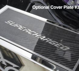 American Car Craft Fuse Box Top Plate Carbon Fiber w/Satin Trim Supercharged Font 333037