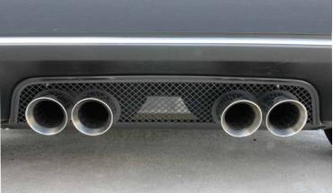 American Car Craft 2005-2013 Chevrolet Corvette Exhaust Filler Panel, Stock Exhaust Laser Mesh Black Stealth 042091