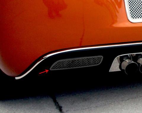 American Car Craft 2005-2013 Chevrolet Corvette Reverse Light Covers Laser Mesh Black Stealth 2pc 042107