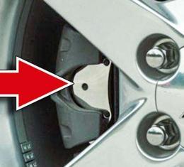 American Car Craft 2005-2013 Chevrolet Corvette Brake Pad Covers Polished 4pc 042046