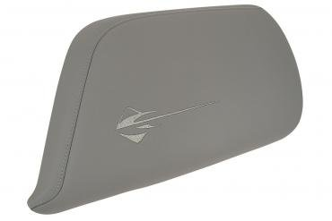 Corvette Center Console Door, Gray Leather with Stingray Logo, 2014-2019