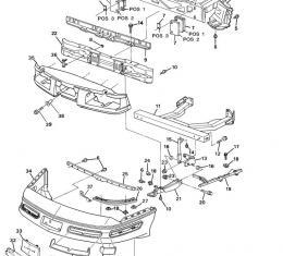 Corvette Impact Bar Skid Plate Tie Bar, USED 1990-1996