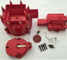 Corvette HEI Distributor Cap and Rotor, Red, 1975-1991