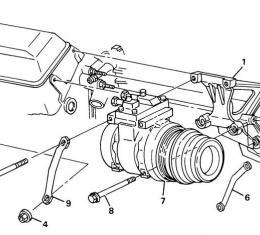 Corvette Air Conditioning Compressor Bracket, USED 1988-1991
