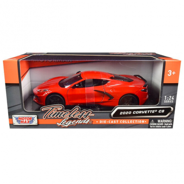Motormax Timeless Legends 2020 C8 Corvette 1/24 Diecast | Red