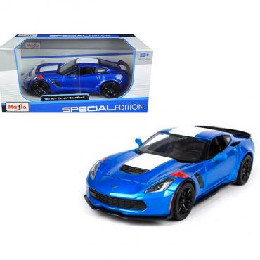 Maisto Special Edition 2017 C7 Corvette Grand Sport 1/24 Diecast   Blue