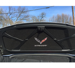 Corvette Trunk Lid Inner Liner, C7 Logo & Stingray Script, Black, 5 Piece, 2014-2019