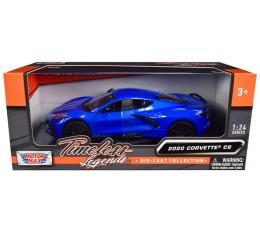 Motormax Timeless Legends 2020 C8 Corvette 1/24 Diecast | Blue