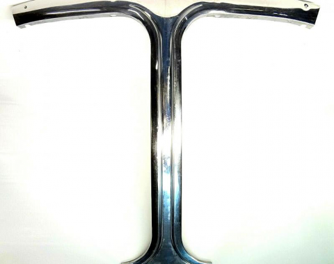 Corvette T-Top Center Stainless Trim, USED 1975-1982