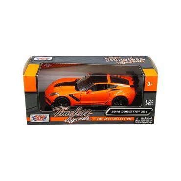 Motormax Timeless Legends 2019 C7 Corvette ZR1 1/24 Diecast | Orange