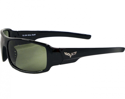 Black Corvette Sunglasses, with C6 Logo
