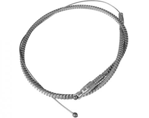 Corvette Park Brake Cable, Front Stainless Steel, 1964-1966