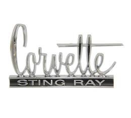 Corvette Emblem, Stingray, Hood and Rear Deck, 1966-1967
