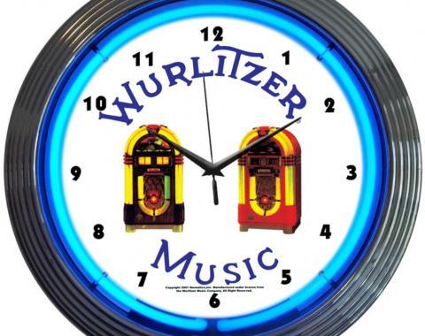 Neonetics Neon Clocks, Wurlitzer Jukebox Neon Clock