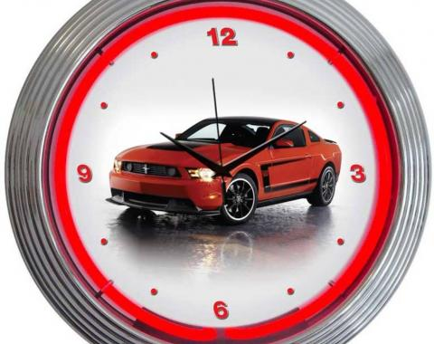 Neonetics Neon Clocks, Ford Mustang Boss 302 Neon Clock