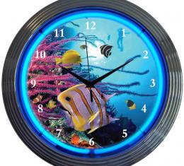 Neonetics Neon Clocks, Aquarium Neon Clock