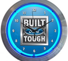 Neonetics Neon Clocks, Ford - Built Ford Tough Neon Clock