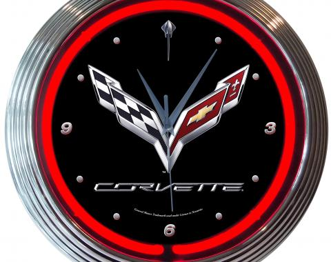 Neonetics Neon Clocks, Corvette C7 Neon Clock