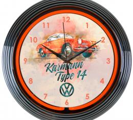 Neonetics Neon Clocks, Volkswagen Karmann Neon Clock