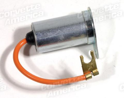 Corvette Ignition Coil Capacitor with Bracket, 327, 1963-1967