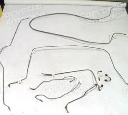 Corvette Brake Line Set, Stainless Steel with Power Brakes, 1968