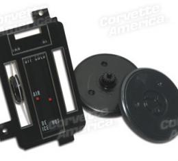 Corvette Heater/Ac Control Faceplate Kit, 1968