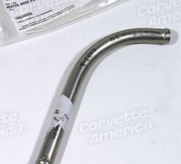 Corvette Heater Hose Pipe, With Air Conditioning By Compressor, Stainless Steel, 1964-1966