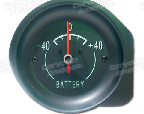 Corvette Amp Gauge, Green Face, 1968-1971