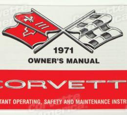 Corvette Owners Manual, 1971