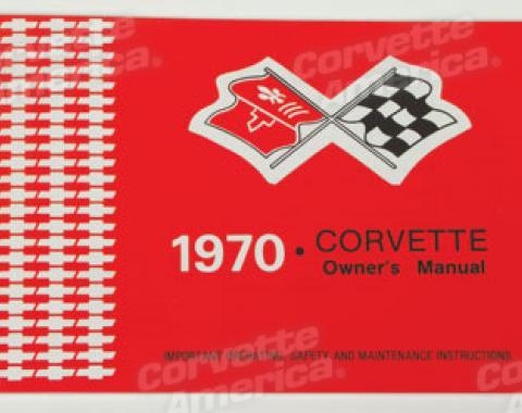 Corvette Owners Manual, 1970