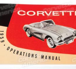 Corvette Owners Manual, 1959