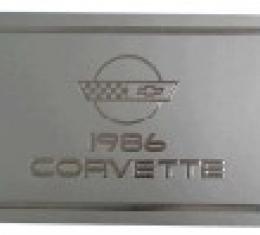 Corvette Owners Manual, 1986