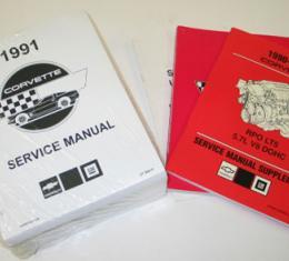 Corvette Service Manual, LT-5, 1991