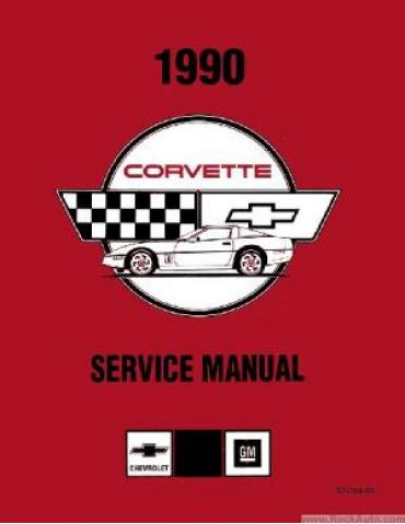 Corvette Service Manual, USED 1990