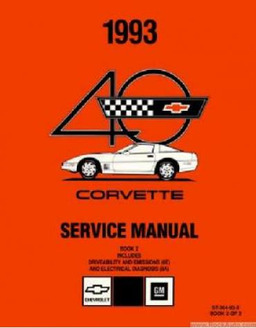 Corvette Service Manual, USED 1993