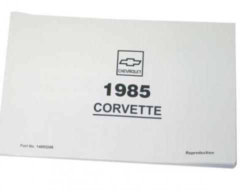 Corvette Owners Manual, 1985