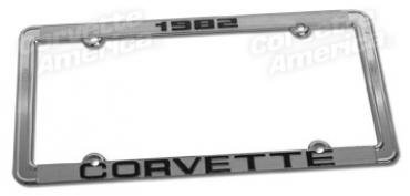Corvette License Plate Frame, with Car Year, 1968-1982
