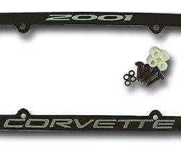 Corvette License Plate Frame, Corvette Black, 2001