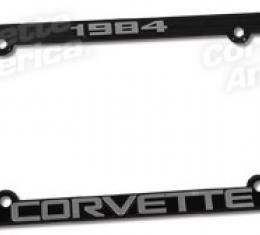 Corvette License Plate Frame, Corvette Black, 1984