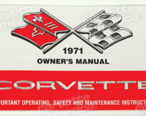 Corvette Owners Manual, 1971