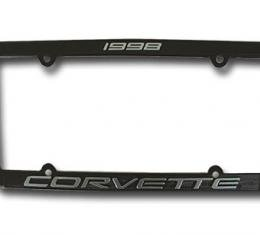 Corvette License Plate Frame, Corvette Black, 1998