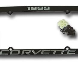 Corvette License Plate Frame, Corvette Black, 1999