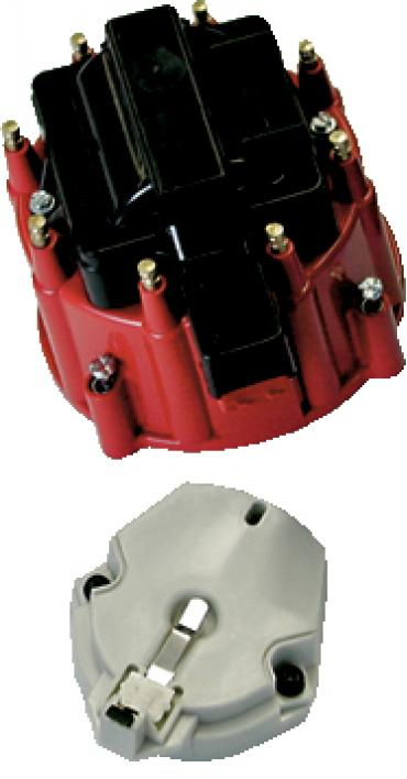 Proform Engine Distributor GM HEI Coil, Cap and Rotor Kit, Red Cap 66942RC