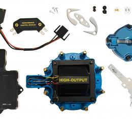Proform Engine Distributor Tune-Up Kit, Fits GM HEI V8 Dist w/Internal Coil, Blue Cap 66945BC