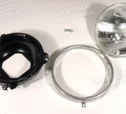 Corvette Headlight Capsule, Outer Right, 1968-1982