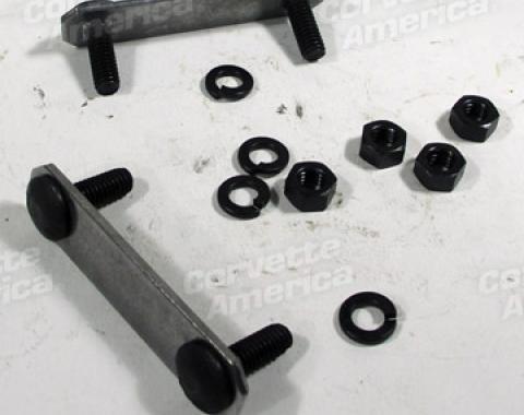 Corvette Steering Damper Bracket Bolt/Plate/Nut, 1963-1968
