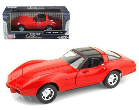Corvette 1979 Coupe Red 1/24 Diecast