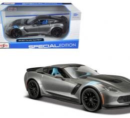 Corvette 2017 Grand Sport Metallic Gray 1/24 Diecast