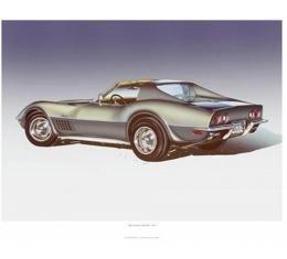 1971 Corvette ZR-2 Steel Cities-Gray Print By Hugo Prado