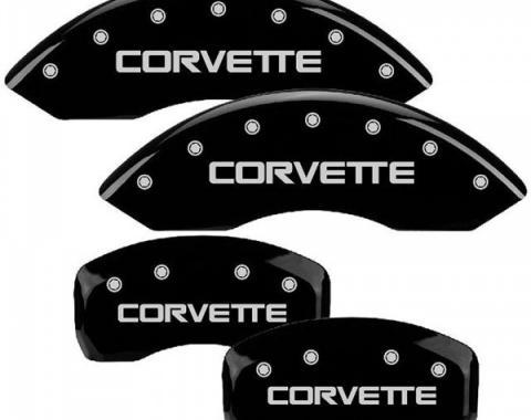 Corvette MGP Black Front & Rear Caliper Cover Set, 1984-1987